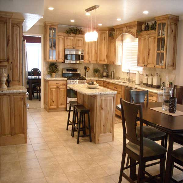 Newly installed kitchen cabinets and granite countertops
